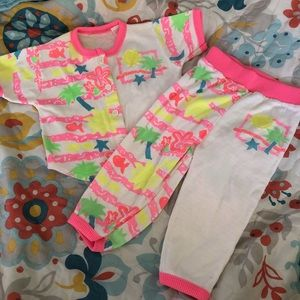Vintage Shirt Pants Sz 18M Neon Party
